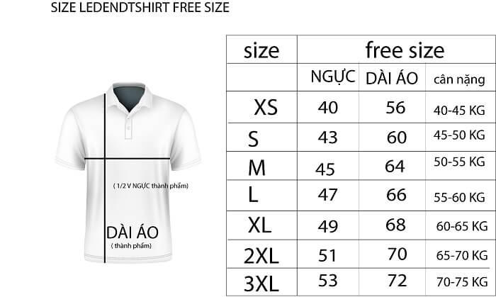 Free size là từ ngữ được dùng để chỉ tới một thông số kích thước của quần áo