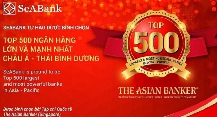 SeABank đã nhận được nhiều giải thưởng và danh hiệu thể hiện độ uy tín và chỗ đứng của mình